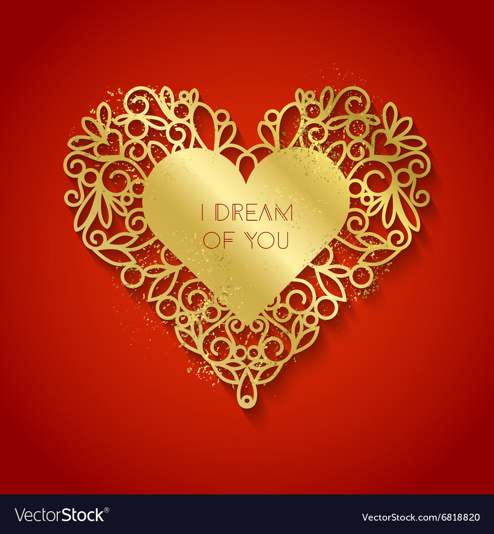 I dream of you romantic inspiration quote vector