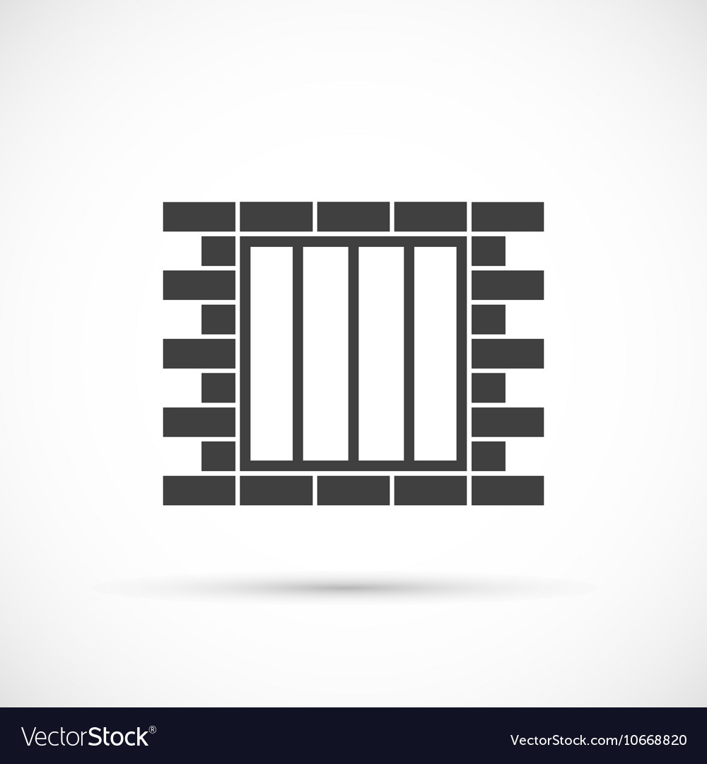 Jail icon vector