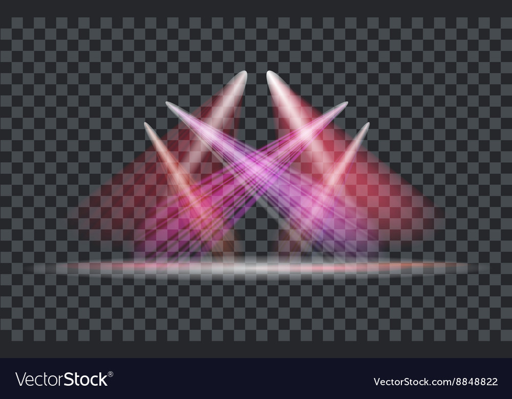Light effect spotlight with transparent background vector