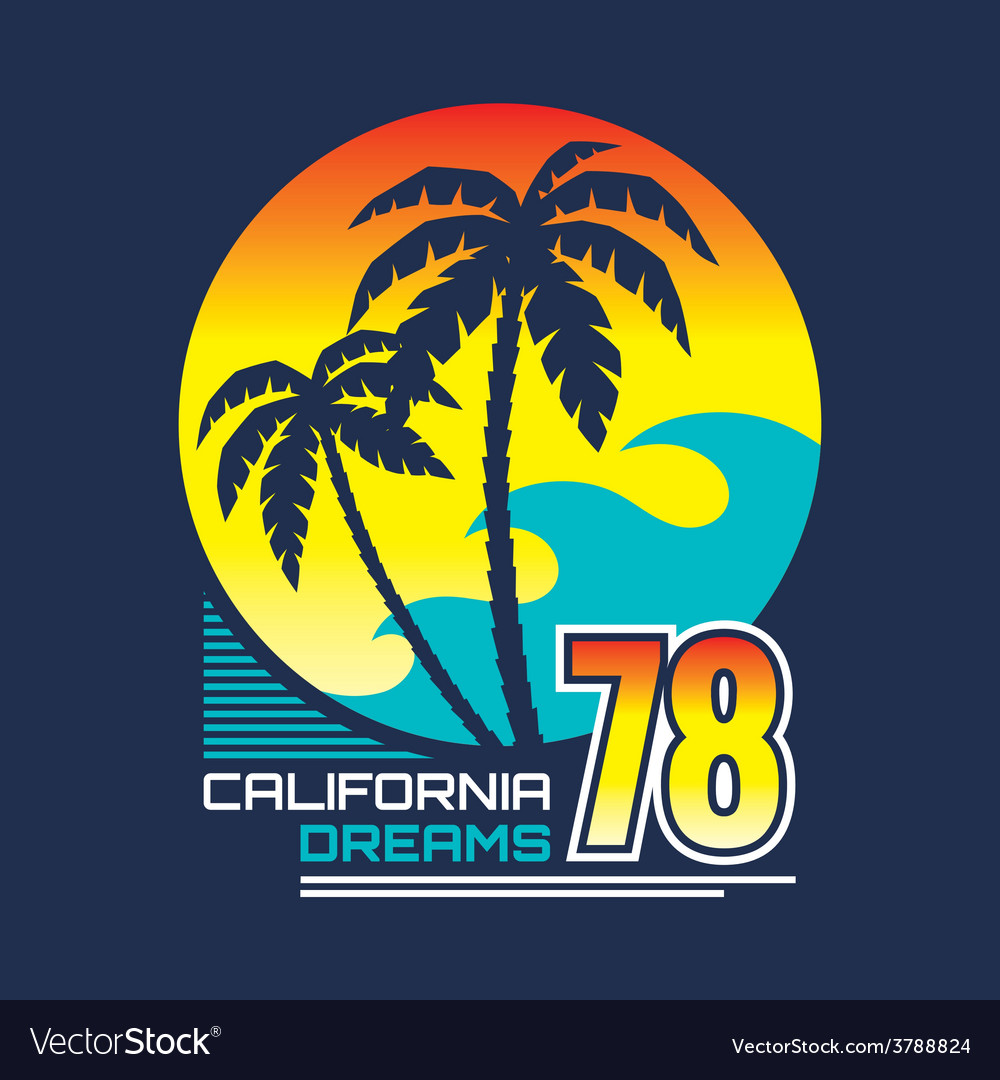 California  vintage badge vector