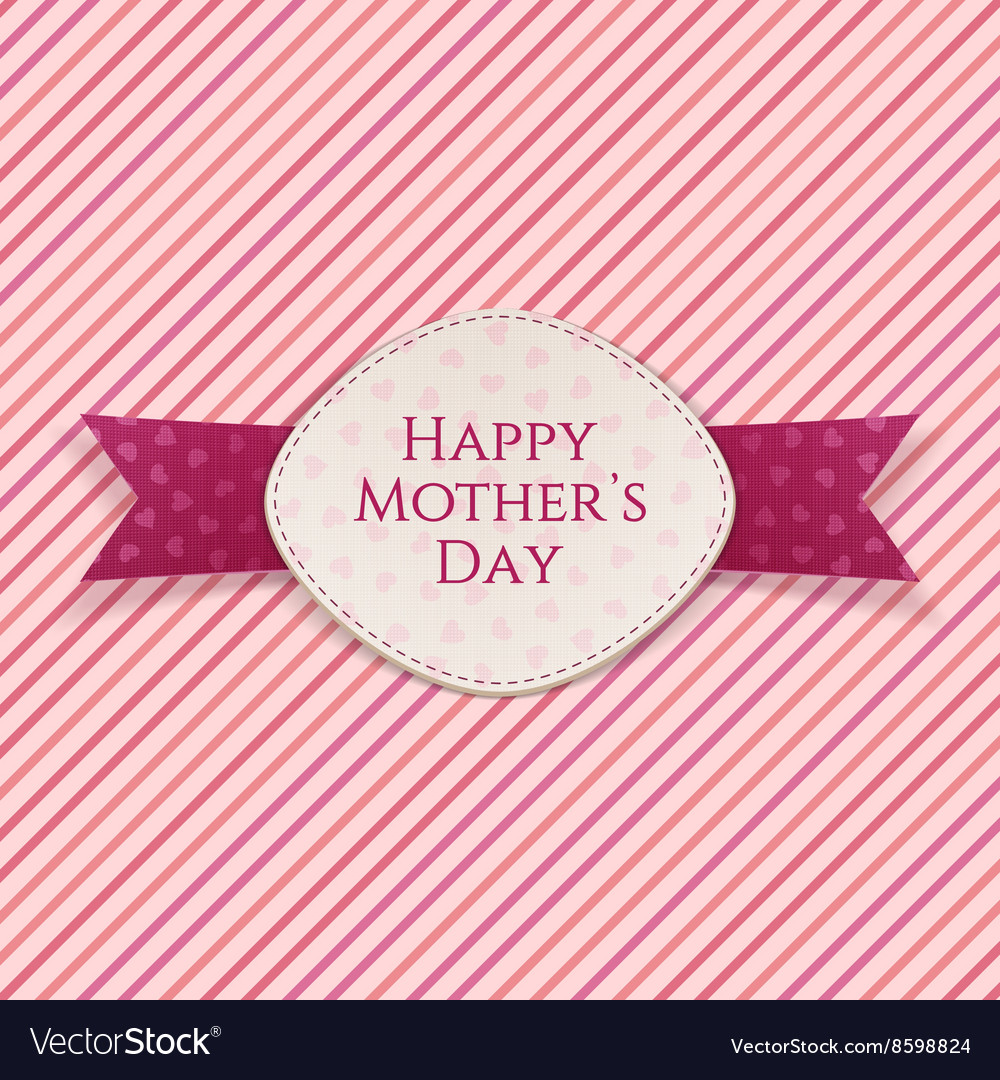 Happy mothers day holiday card template vector