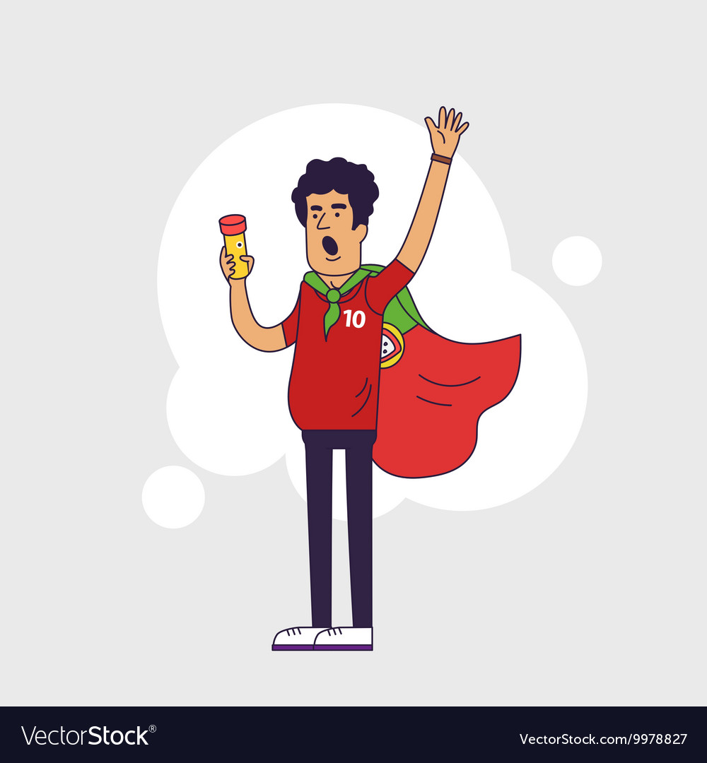 Fan of portugal national football team sports vector