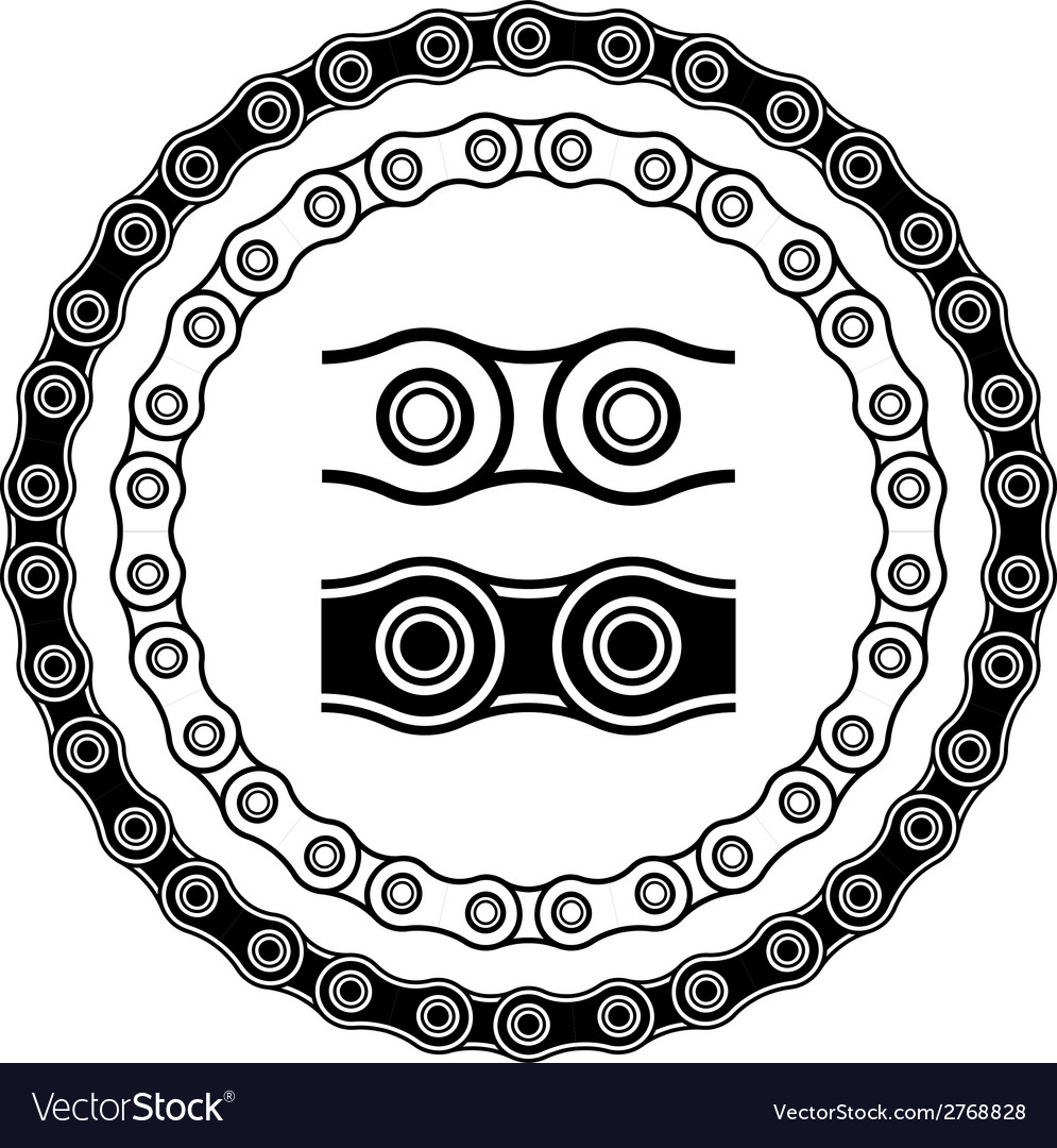 Bicycle chain seamless silhouettes vector