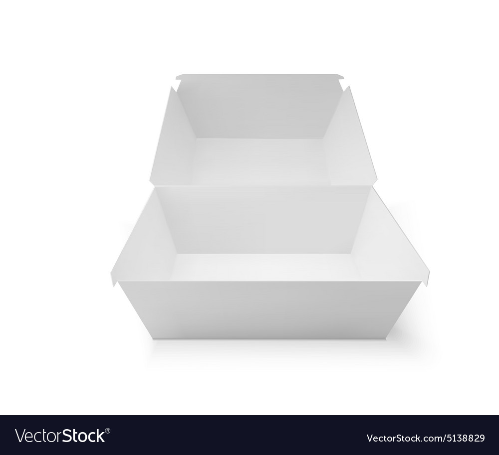 White food box packaging for hamburger lunch vector