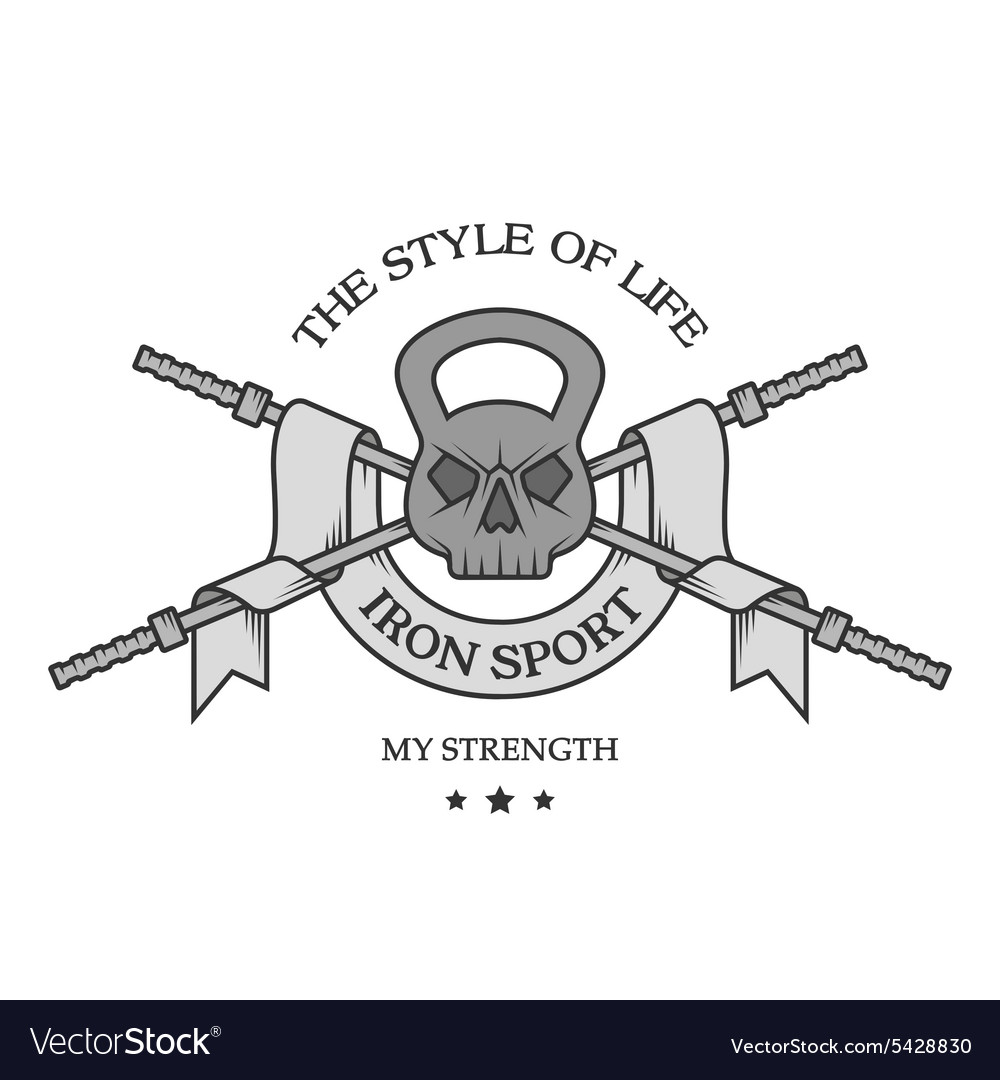 Iron sports logo emblem vector