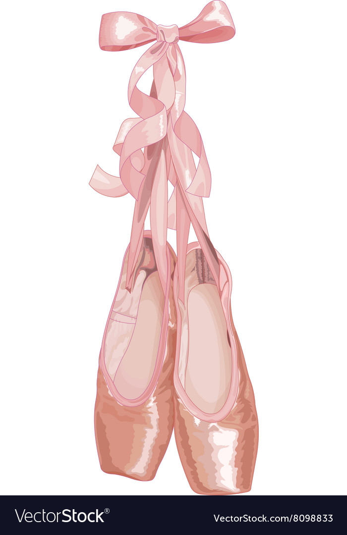 Ballet slippers vector