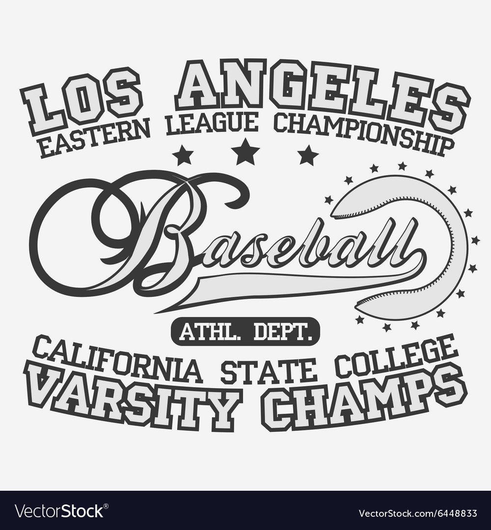 Baseball logotype vector
