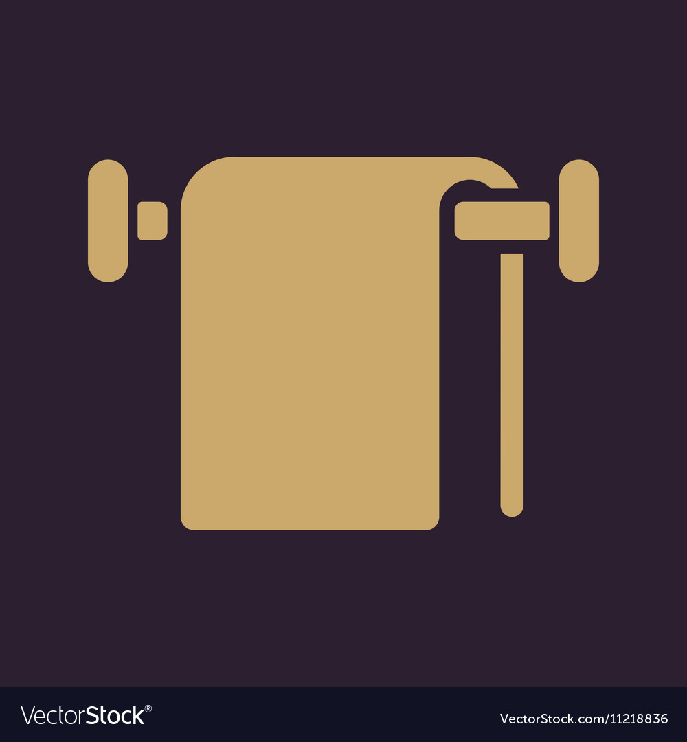 Towel icon bathroom symbol flat vector