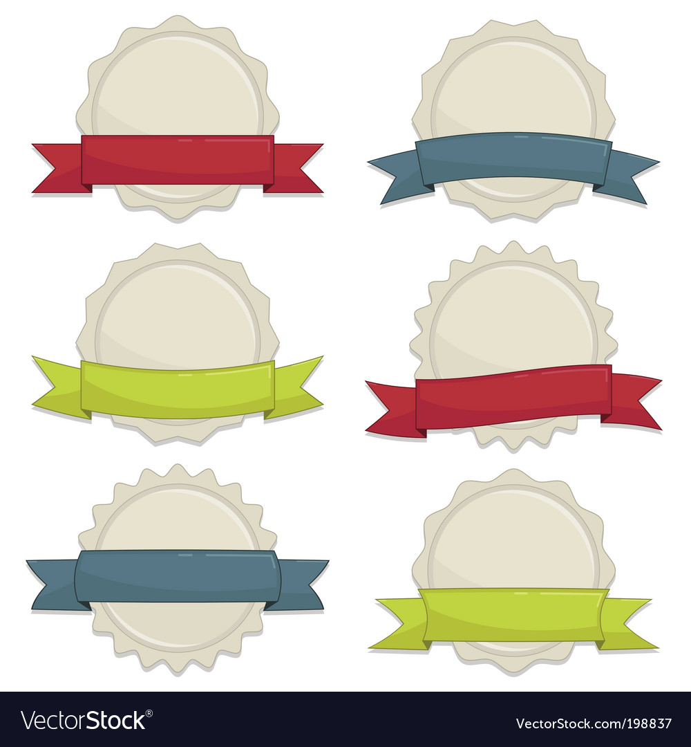Seals with banners vector
