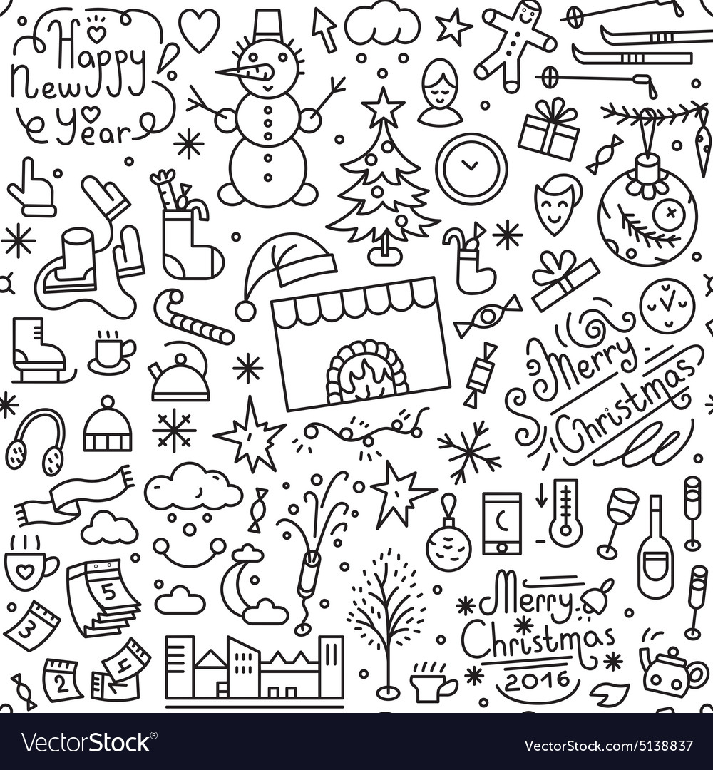 Winter holidays  seamless background vector
