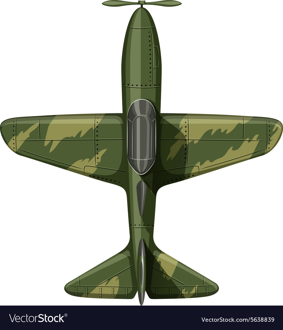 Airforce plane in green vector