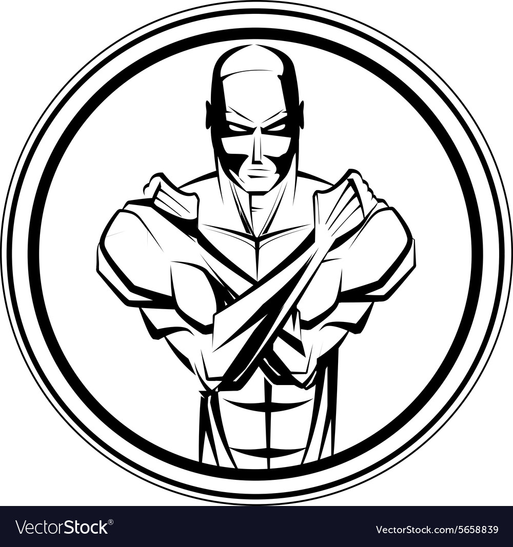 Bodybuilder fitness symbol vector