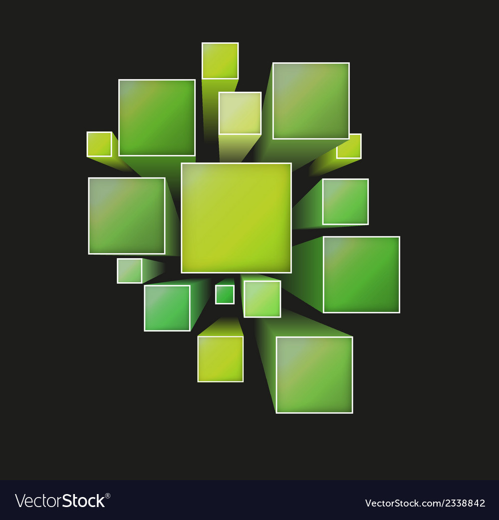Three dimensional squares vector