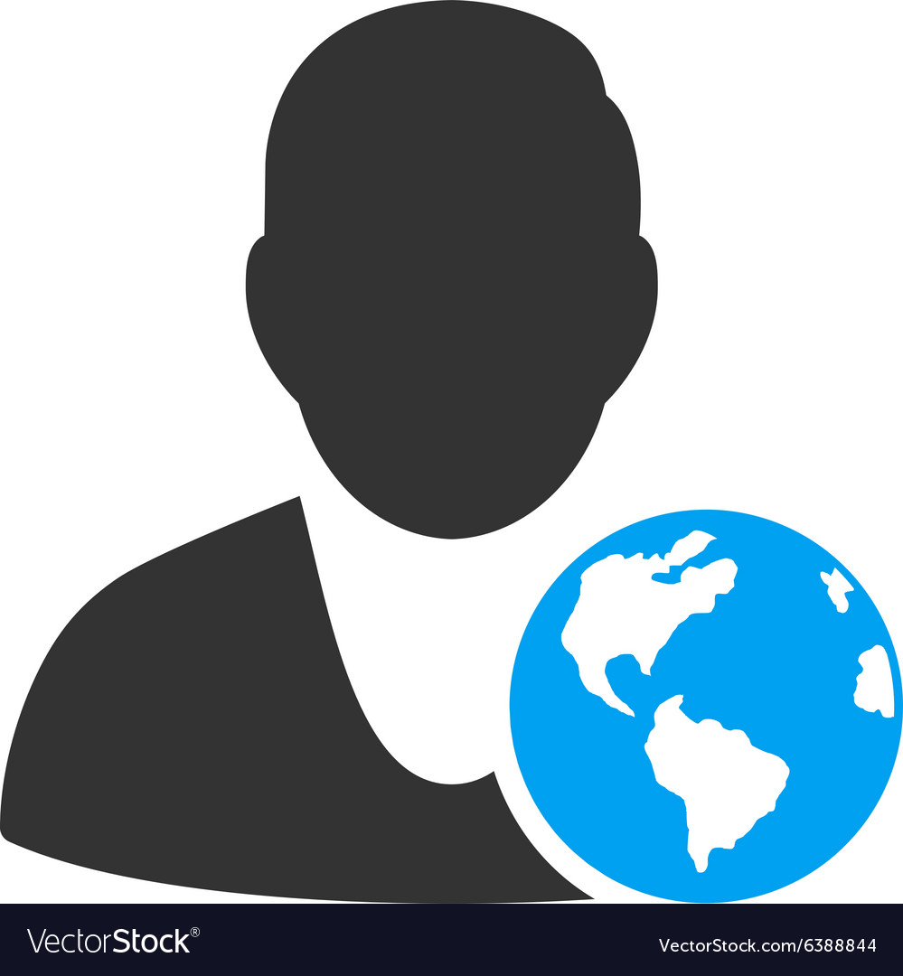 International manager icon vector