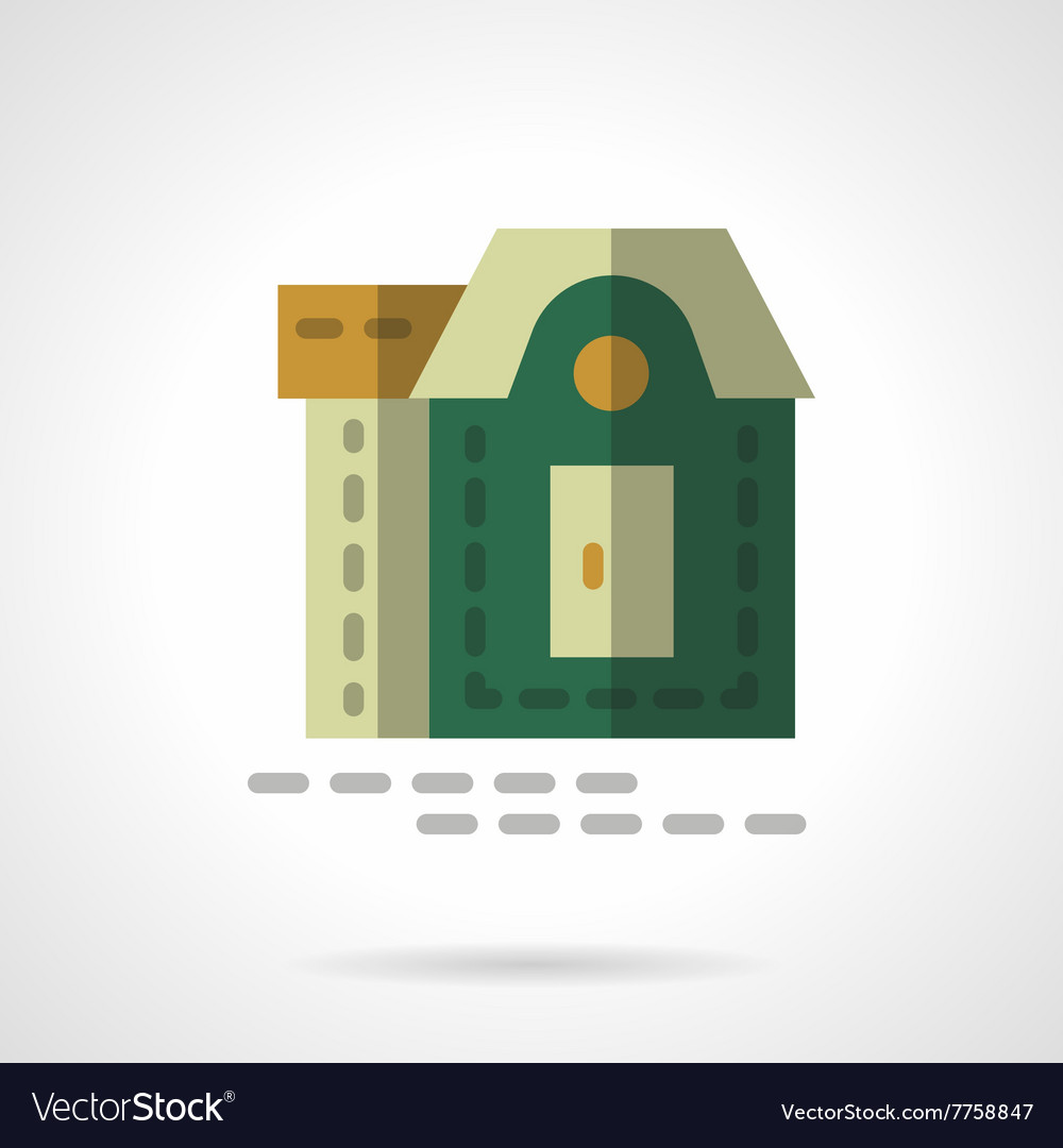Tourist cottage flat color design icon vector