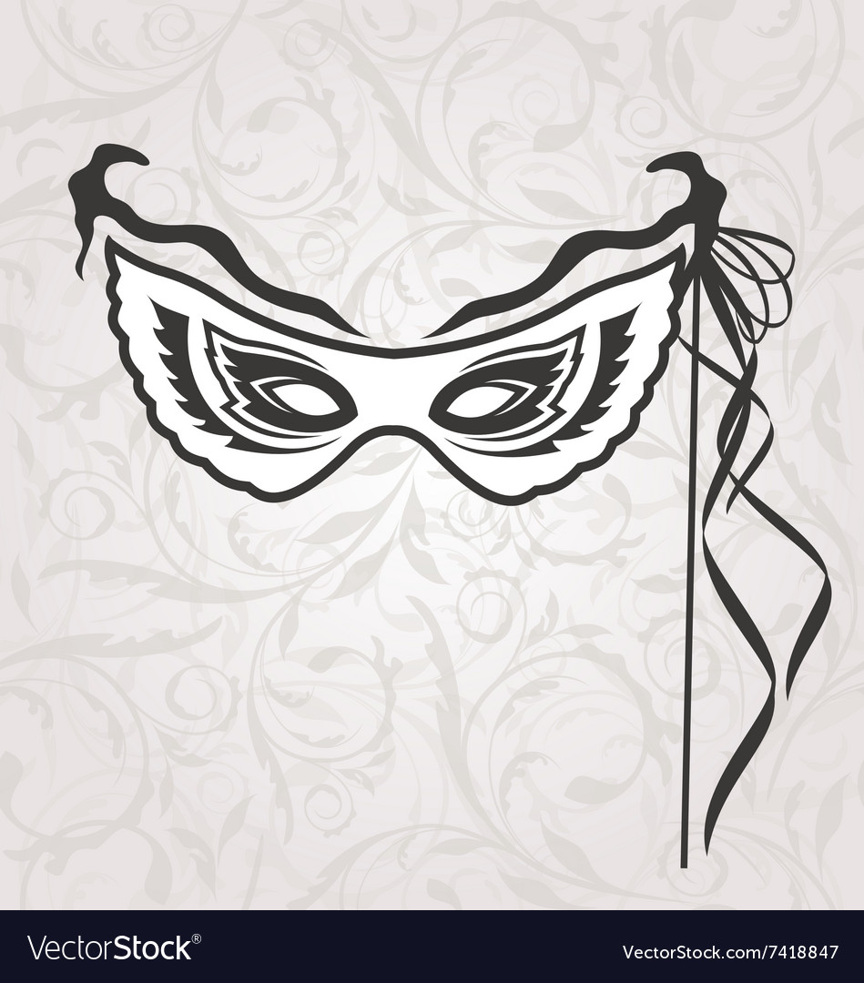 Venice carnival or theater mask with ribbons vector