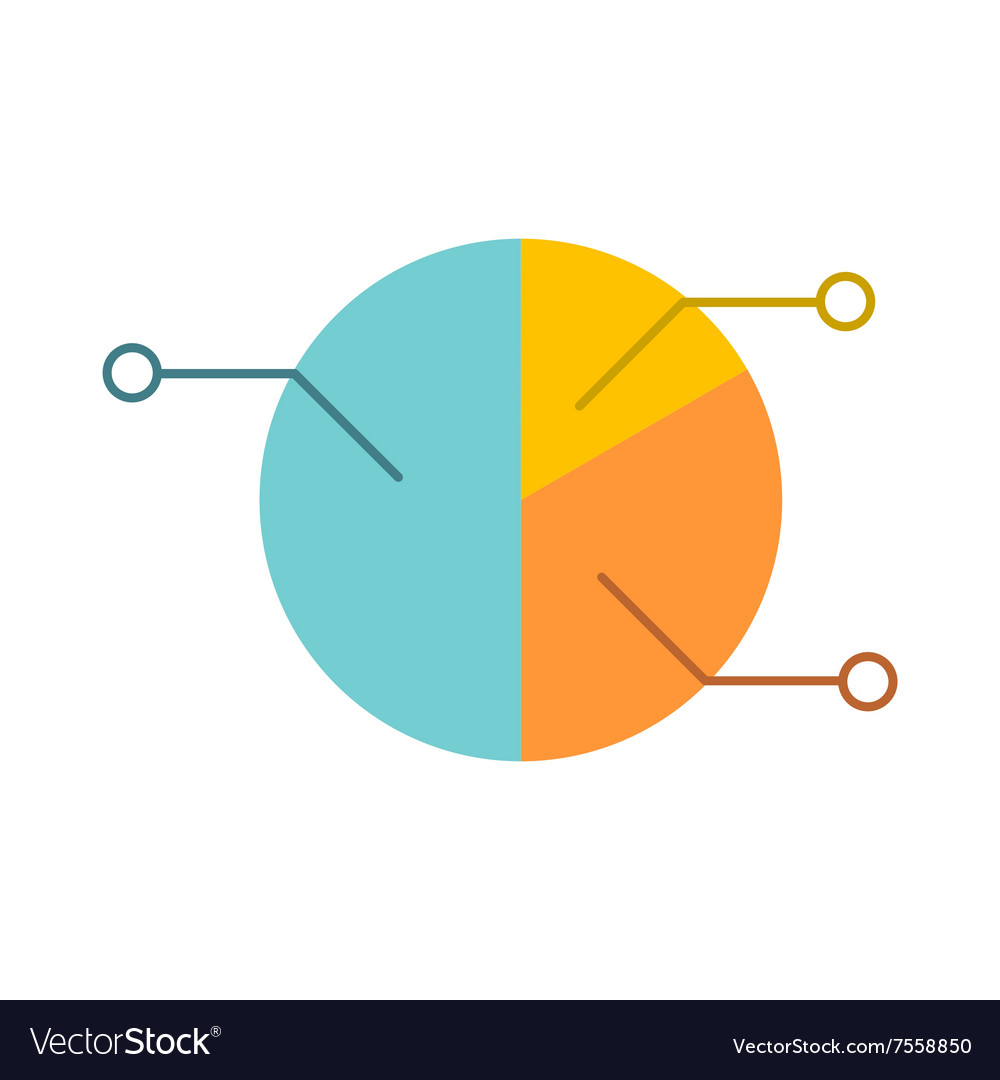 Pie chart infographic flat icon vector