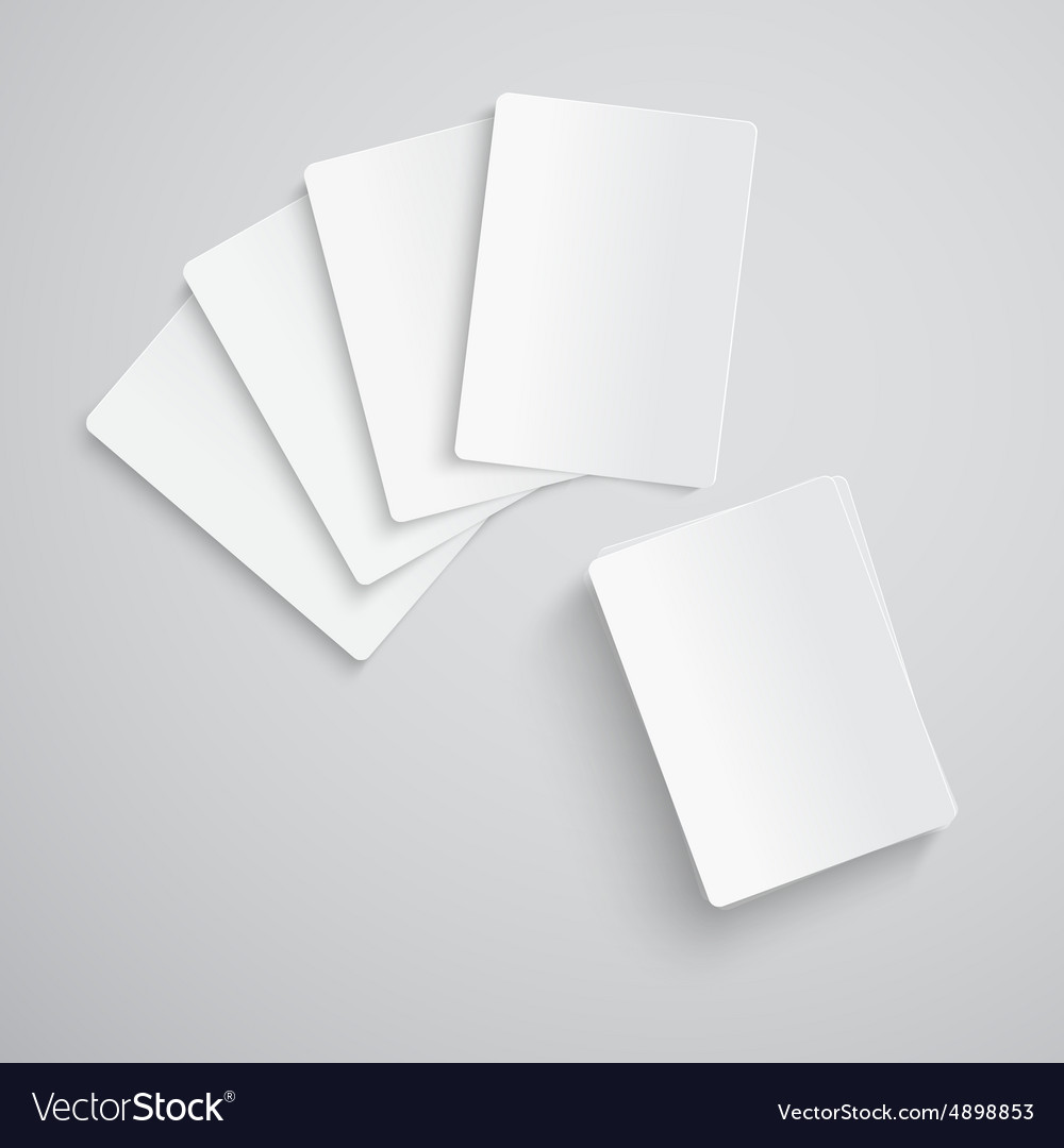 Blank playing cards vector