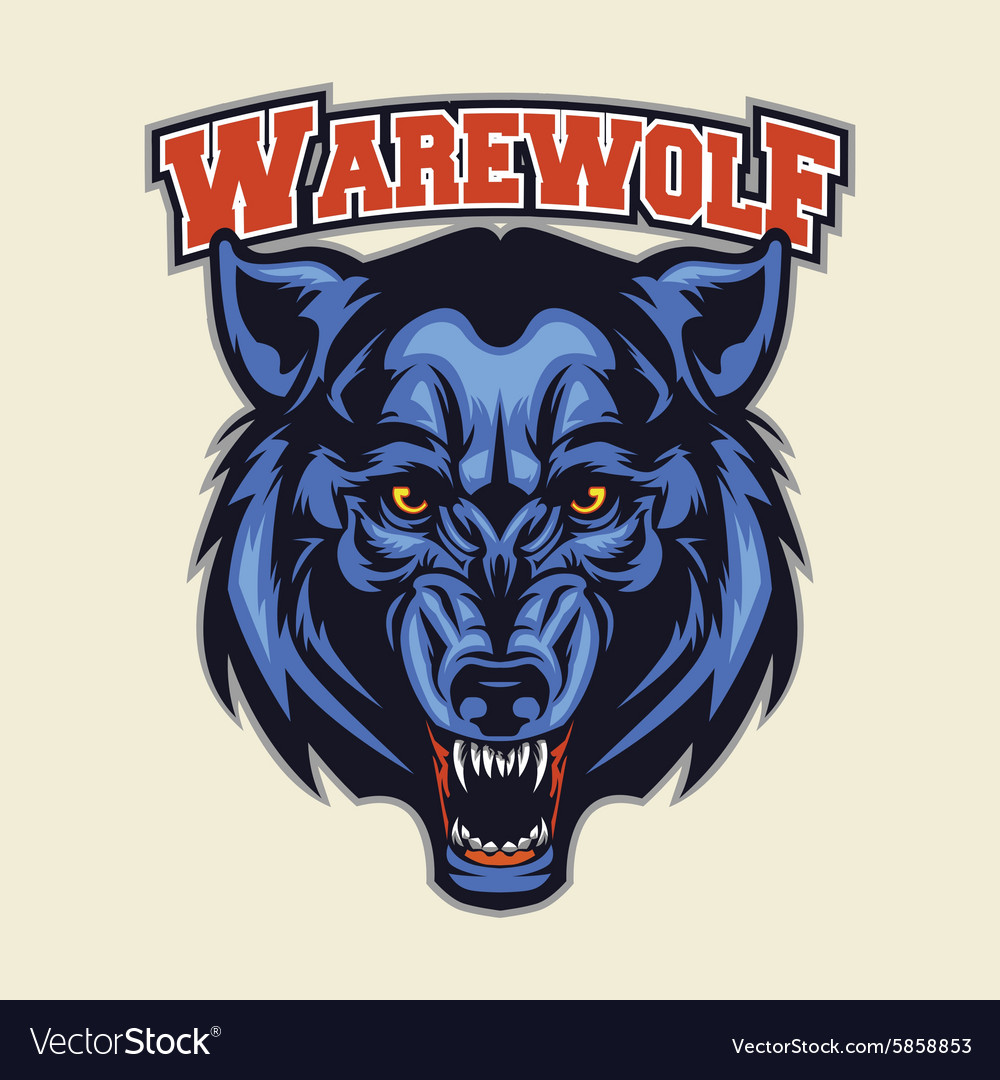 Warewolf head mascot vector