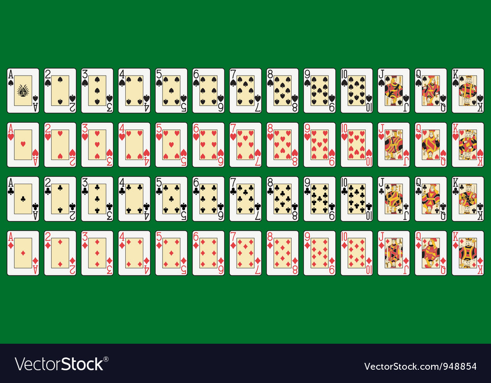 Full deck large index vector