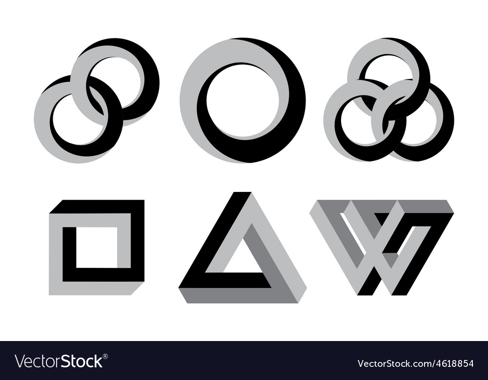 Impossibe shapes vector