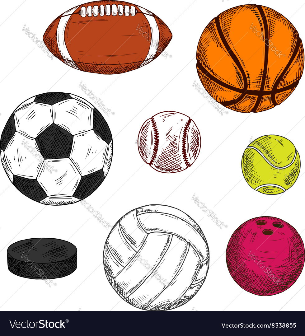 Ice hockey puck with balls for various sport games vector