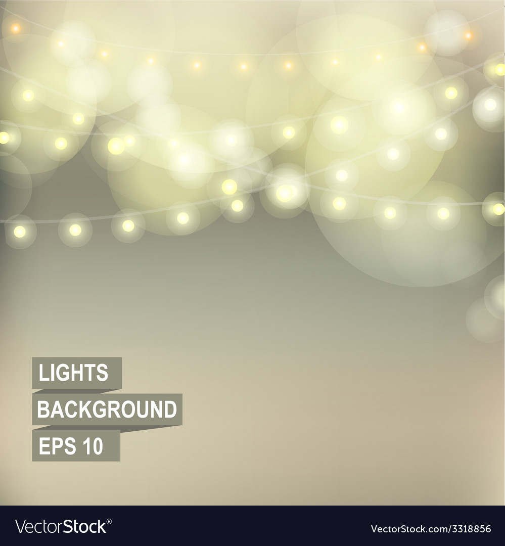 Bokeh garland lights vector