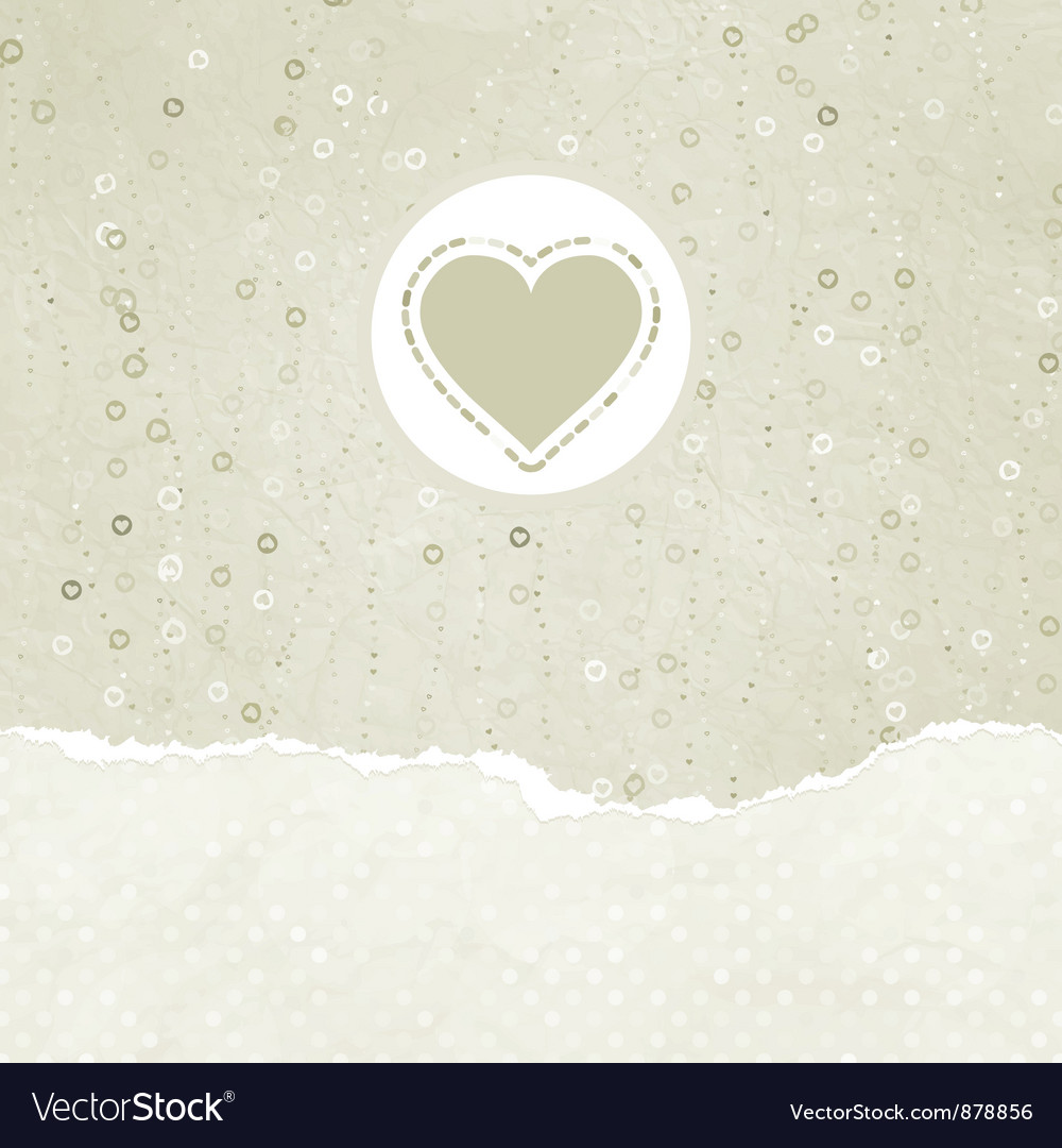 Valentine card with heart vector