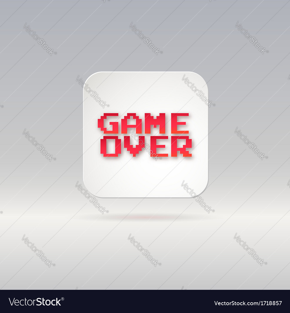 Lettering game over icon vector