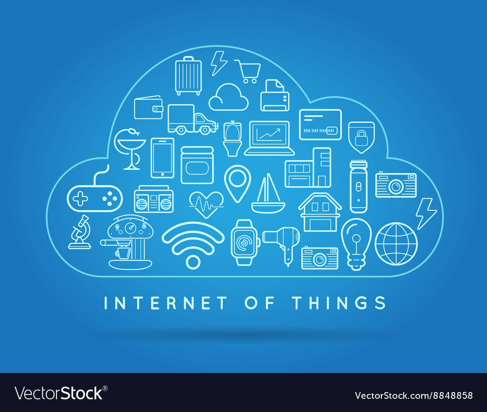 Cloud iot internet of things smart home quality vector