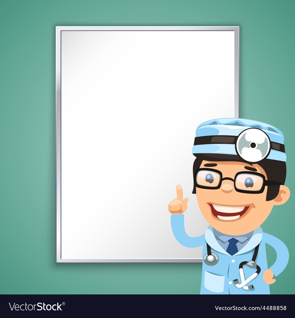 Doctor points on the board vector