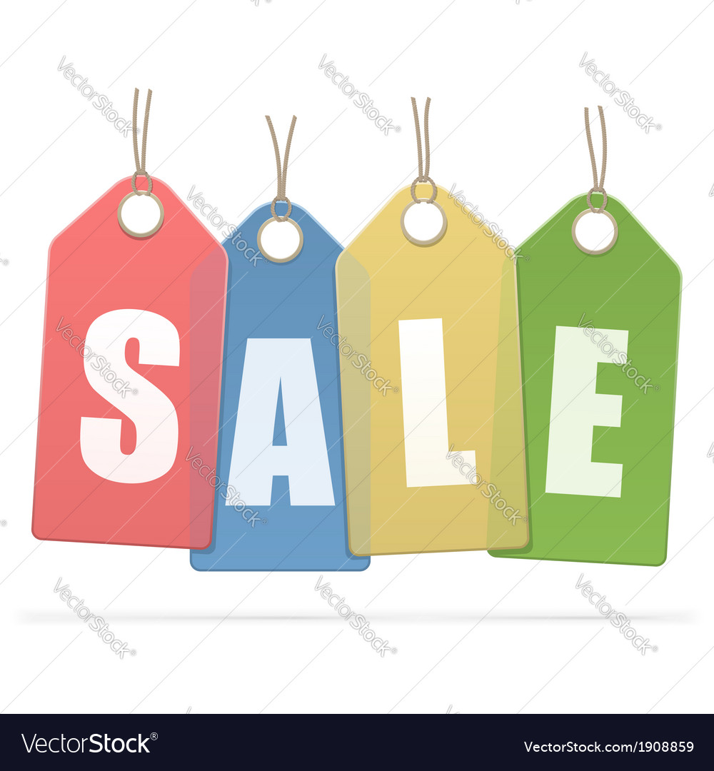 Sale labels vector