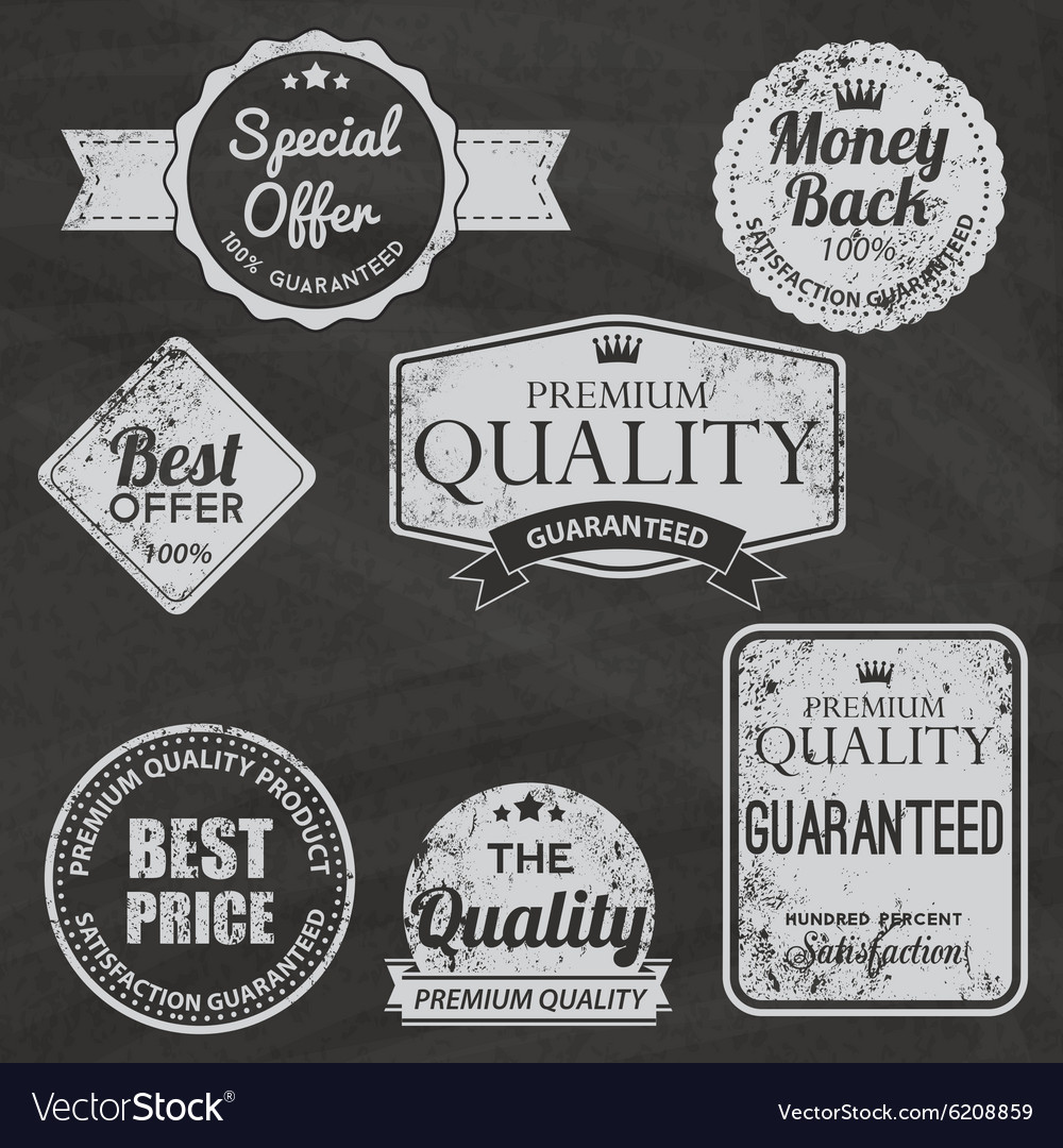 Set of vintage chalkboard bakery logo badges and vector