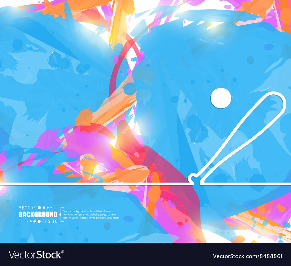 Creative baseball art vector