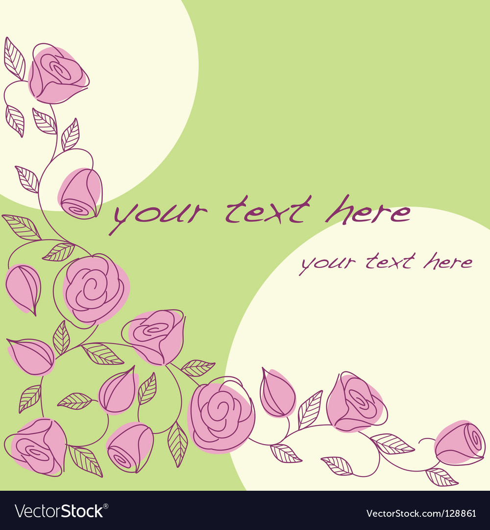 Hand drawn background with roses vector