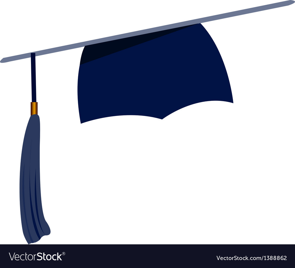 Icon graduation cap vector