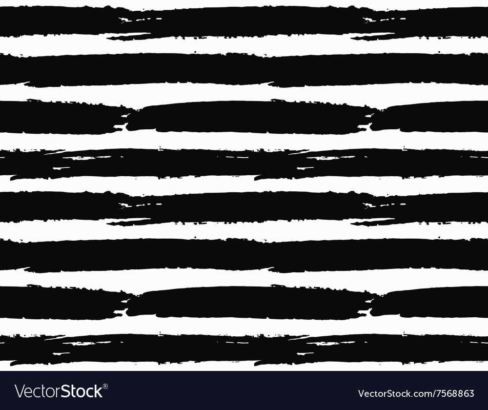 Brush strokes striped pattern vector