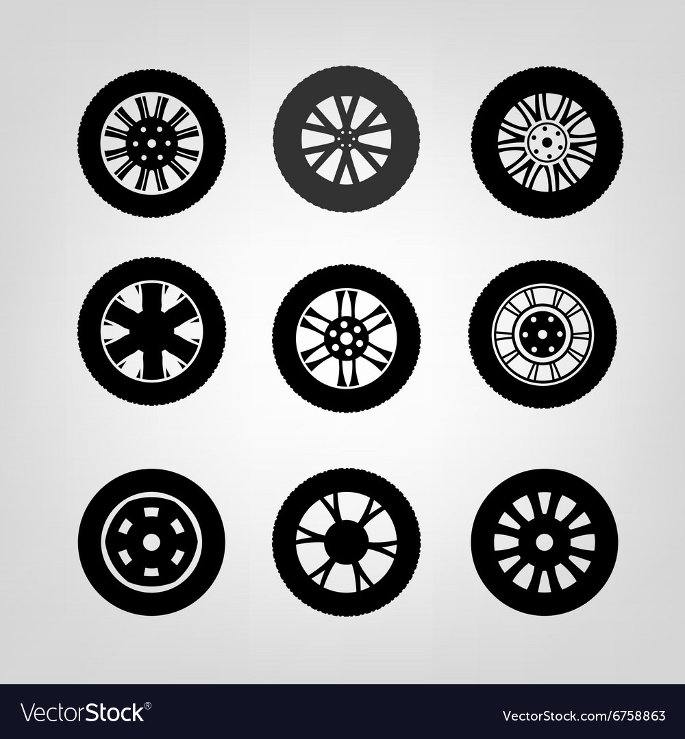 Tires icons03 a vector