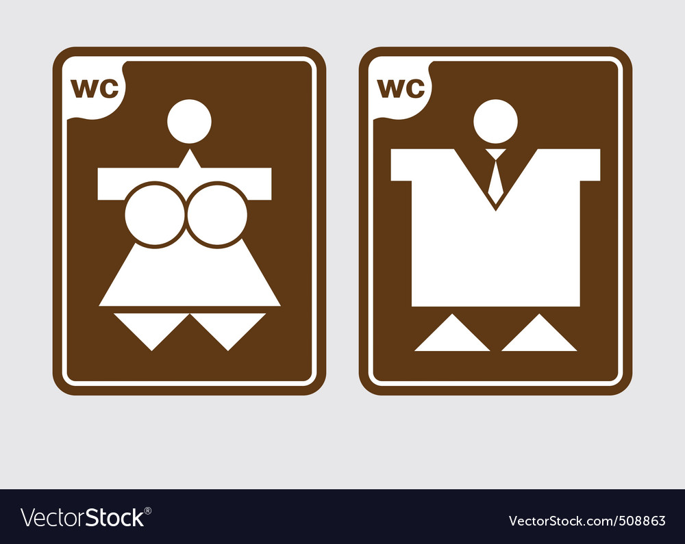 Toilet symbols wc vector