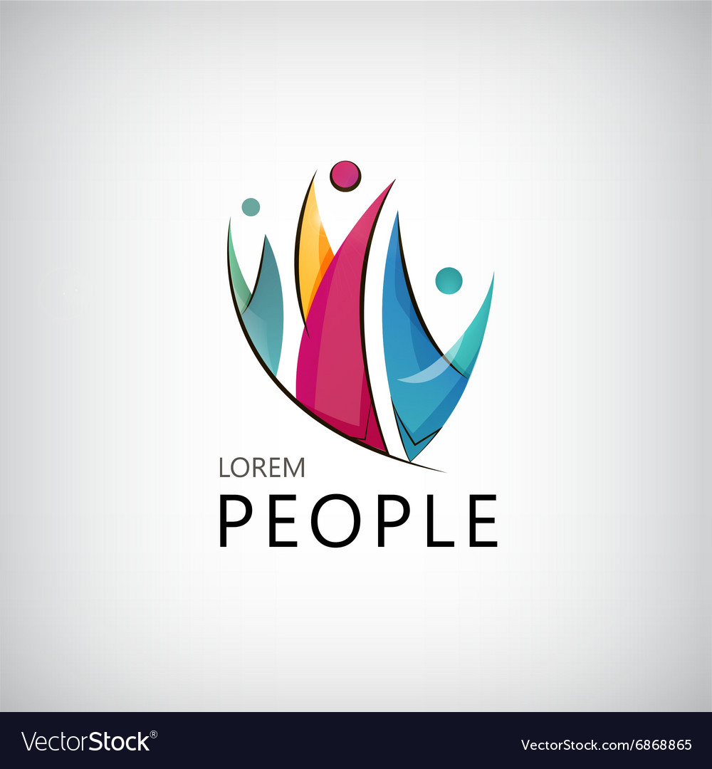 Men people team family human logo icon vector