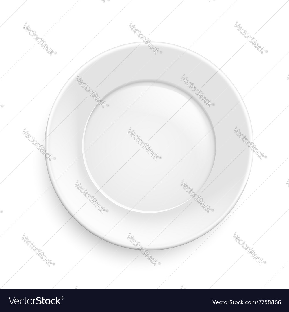 Classic plate vector