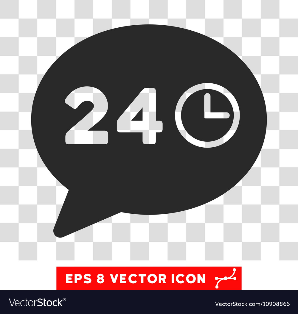 Message 24 hours eps icon vector