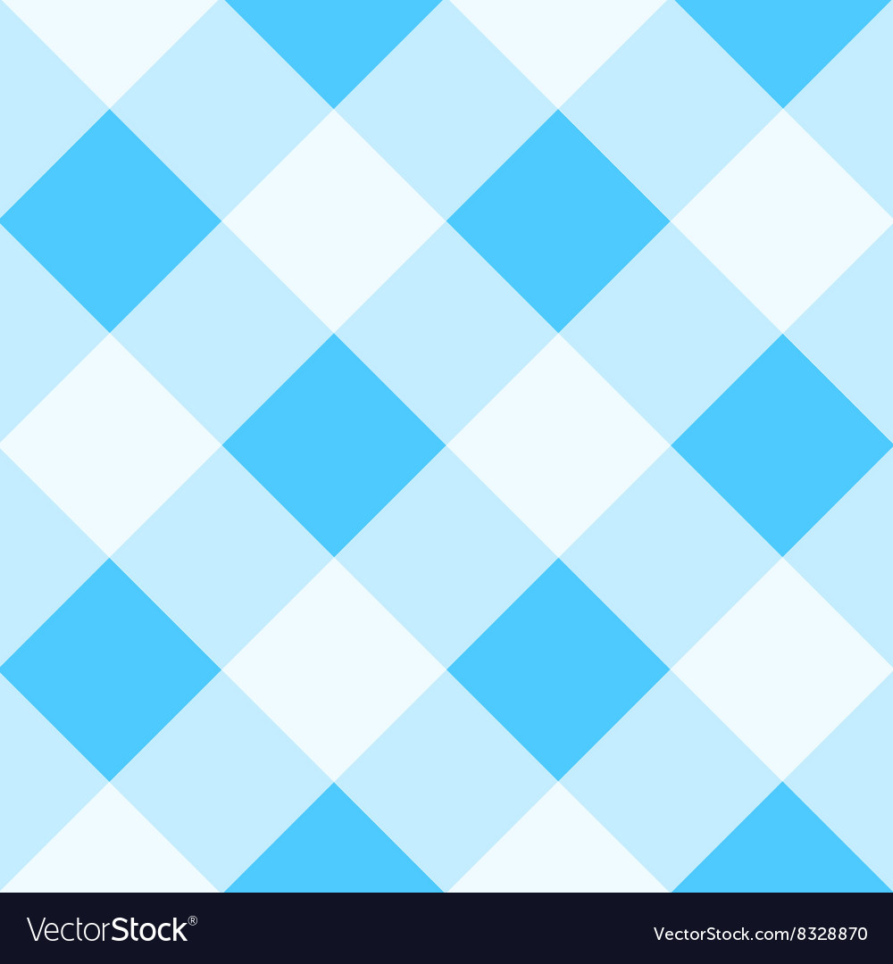 Blue white diamond chessboard background vector