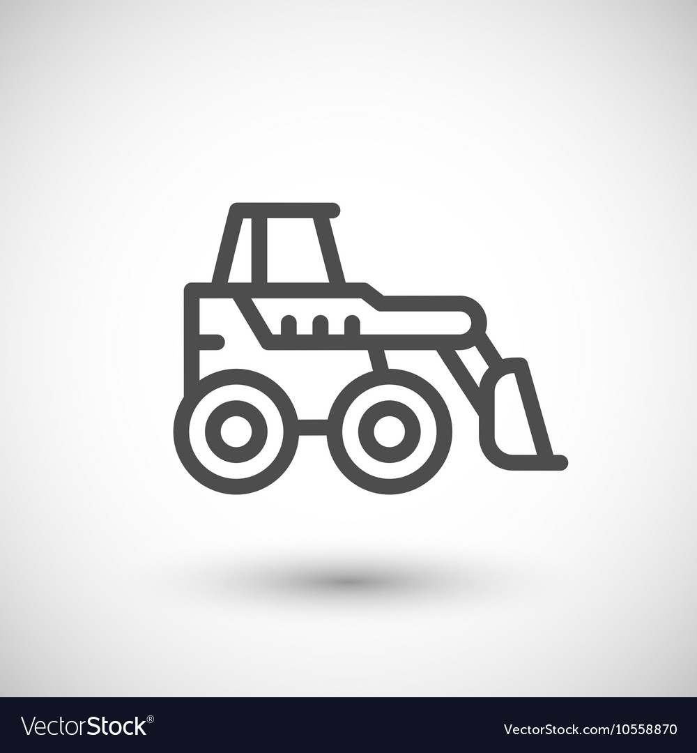 Mini earth mover line icon vector