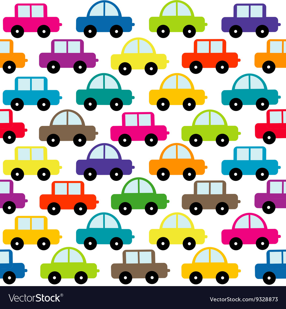 Toy cars background vector