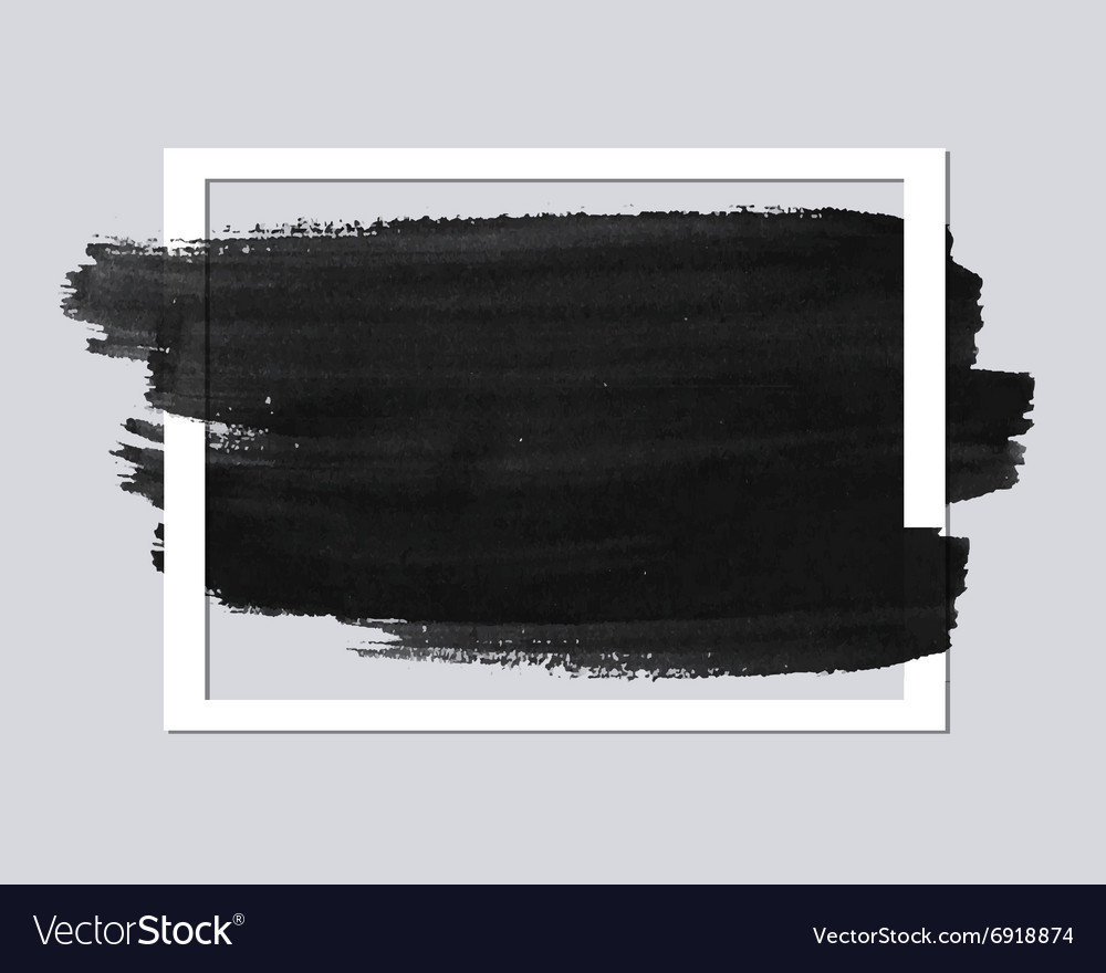 Paper frame with brush stroke vector