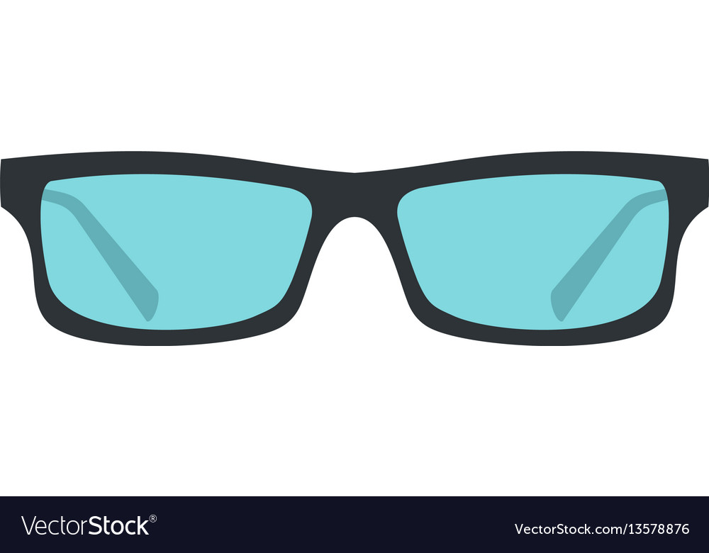 Glasses icon flat style vector