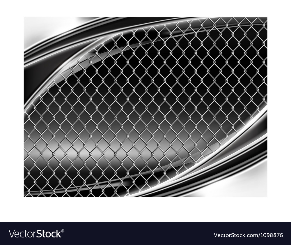 Wire mesh black background vector