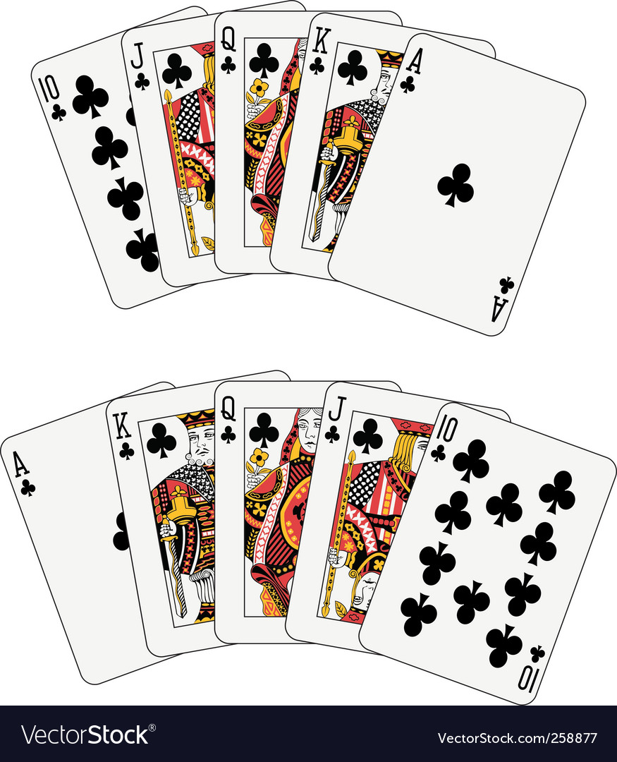 Royal flush club vector