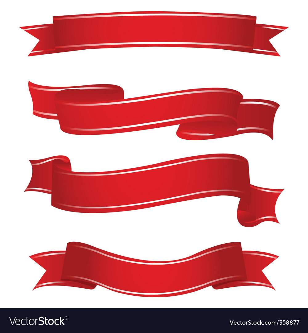 Shapes of ribbons vector